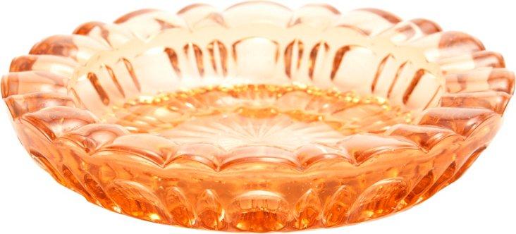 Orange Glass Dish