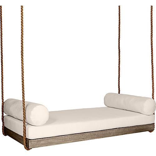 Sipsey Porch Swing, Driftwood/Beige Sunbrella