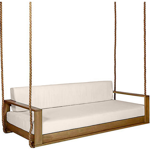 Percy Porch Swing, Natural/Beige Sunbrella