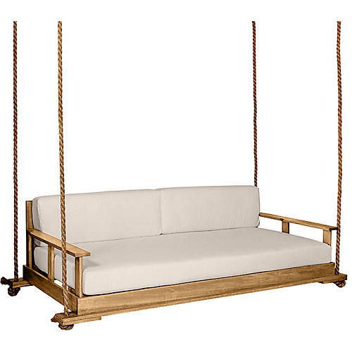Faulkner Porch Swing, Natural/Beige Sunbrella
