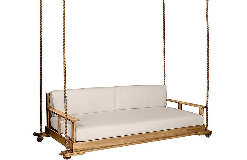 Faulkner Porch Swing, Natural/Beige Sunbrella