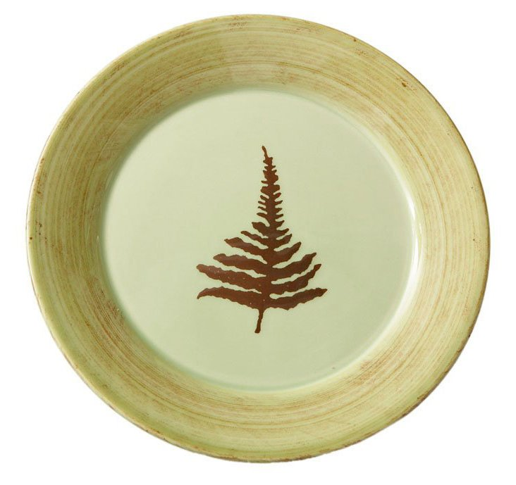 S/4 Fern Dinner Plates