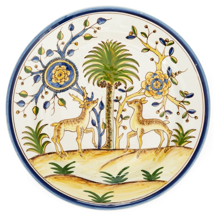 Gathering Deer Round Service Plate