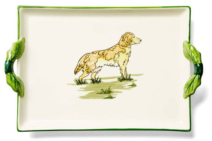 Golden Retriever Handle Tray
