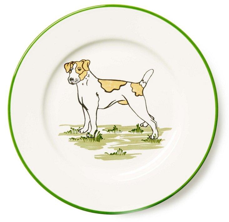 S/4 Jack Russell Dessert Plates