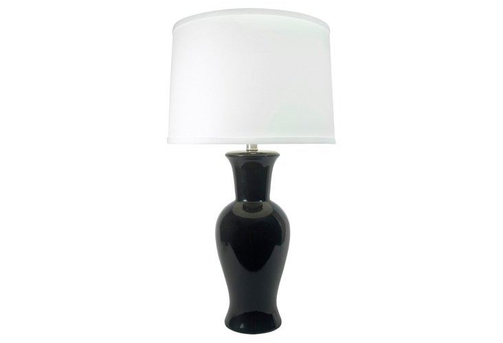 Caroline Table Lamp, Gloss Black