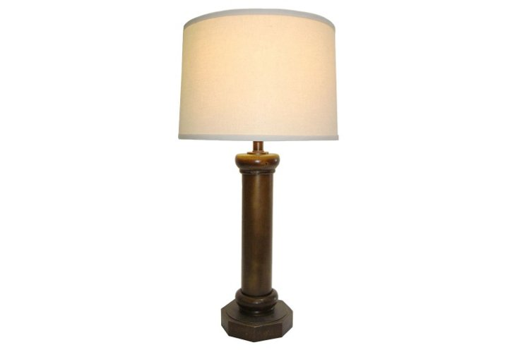 Burn Table Lamp, Dark Burnished Bronze