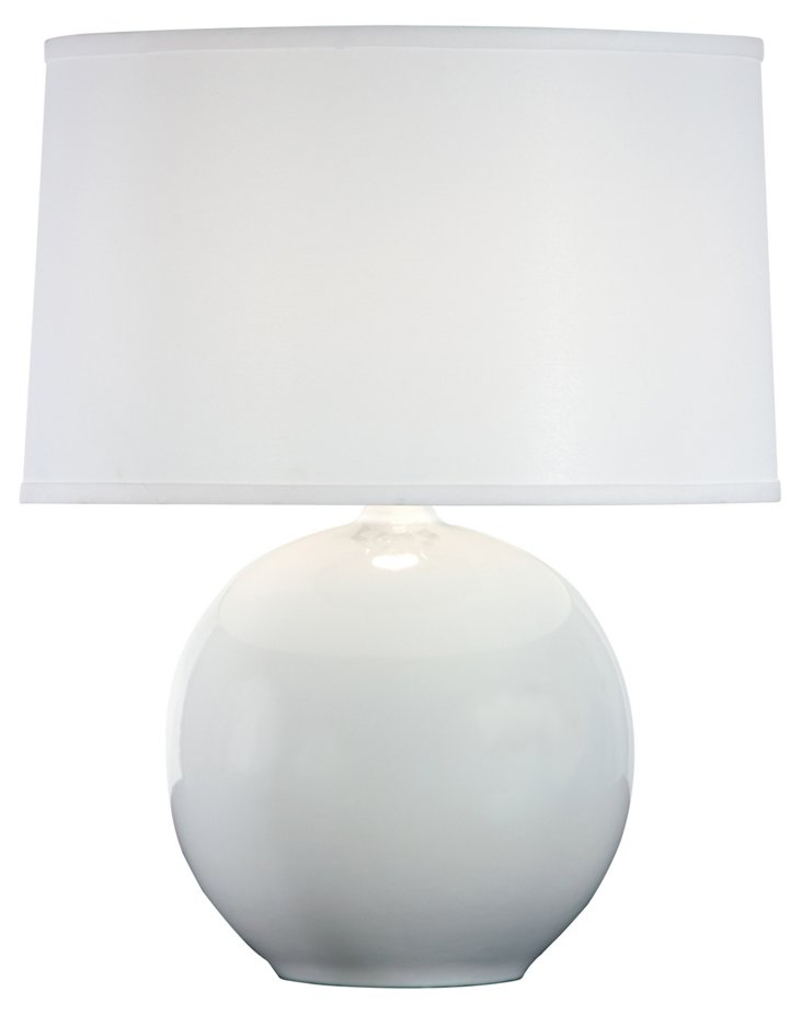 Sphere Table Lamp, White Gloss