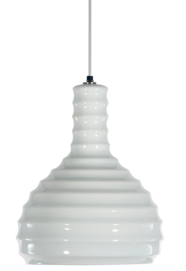 Jamie 1-Light Pendant, White