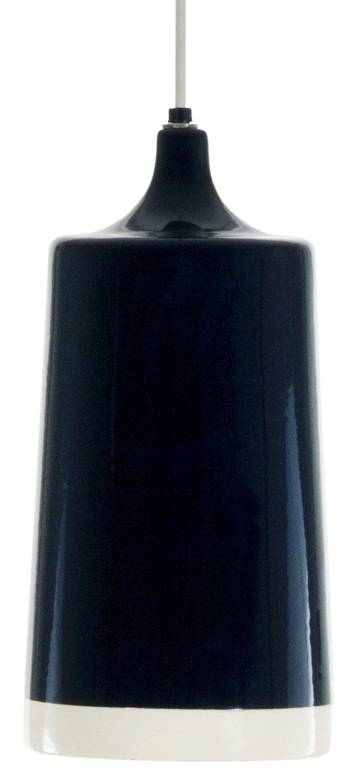 Paloma Ceramic Pendant, Gloss Blue