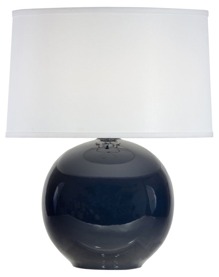 Sphere Table Lamp, Midnight Blue Gloss