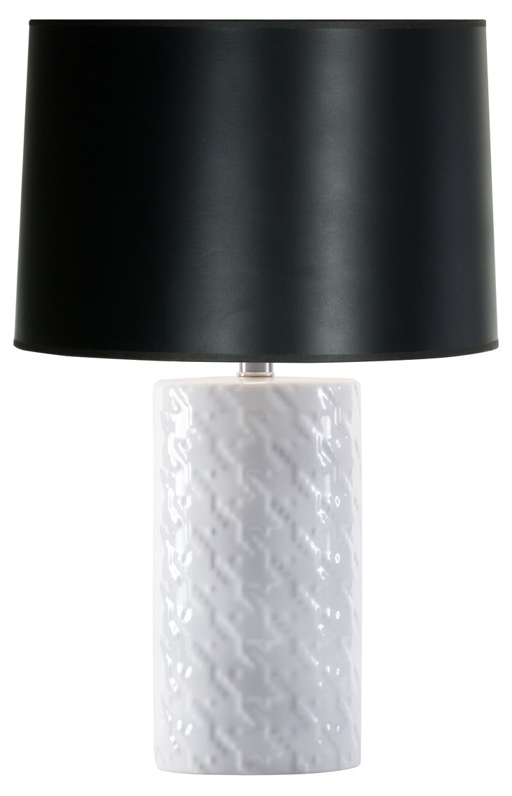 Houndstooth Accent Lamp, Black Shade