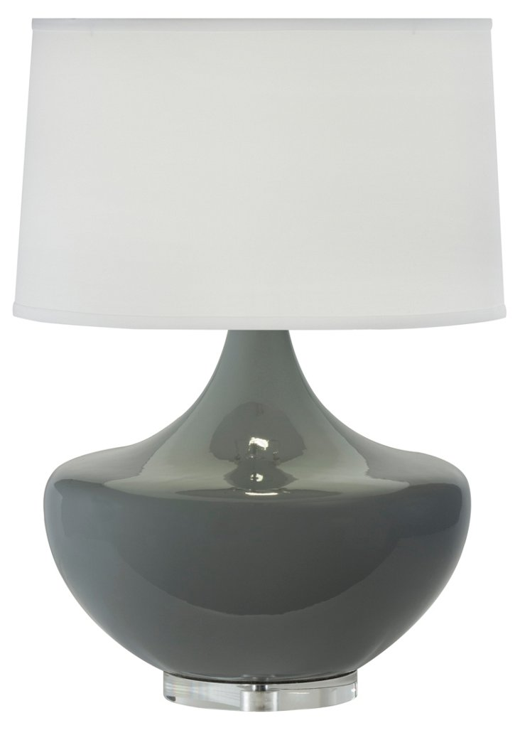 Arden Table Lamp, Gray Agate