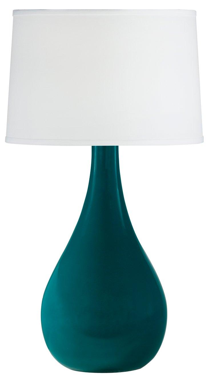 Large Teardrop Table Lamp, Teal