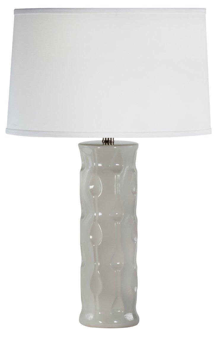 Athea Table Lamp, Gray Agate