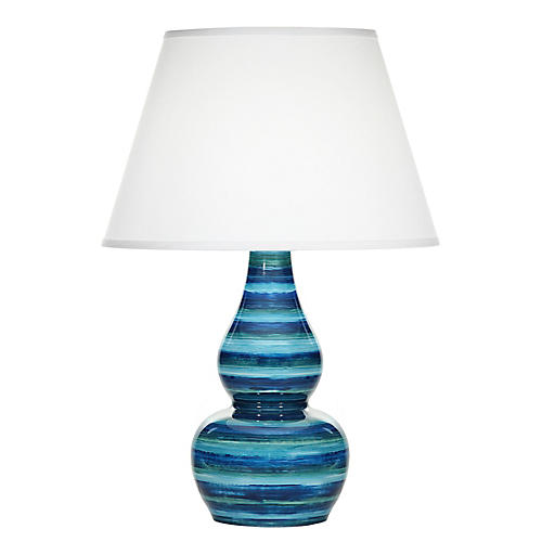 Eureka Table Lamp, Blue Watercolor