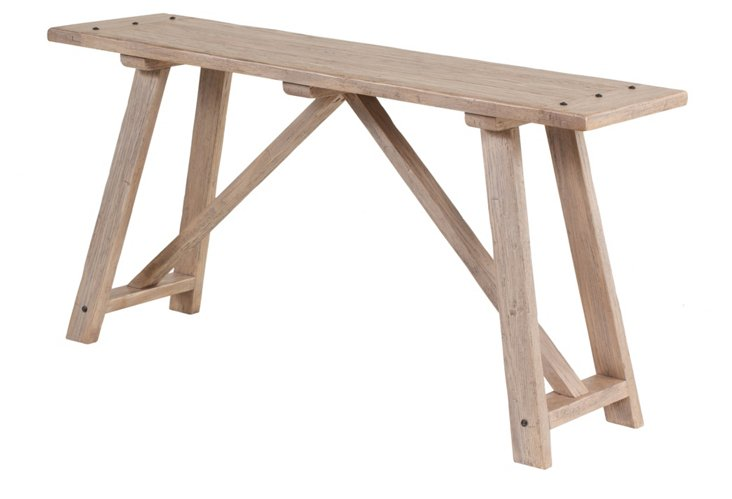 Aidan Work Table, Driftwood
