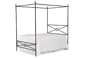 Rockaway Iron Canopy Bed, Queen