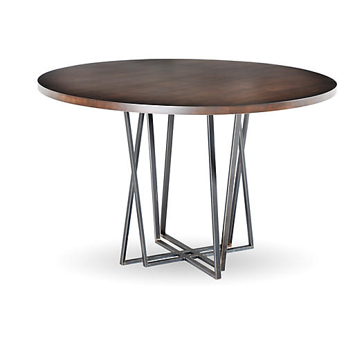 Crosby Dining Table, Iron/Maple