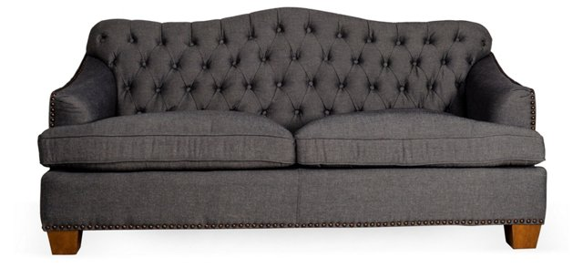 "Brinkley 77"" Sofa, Charcoal"