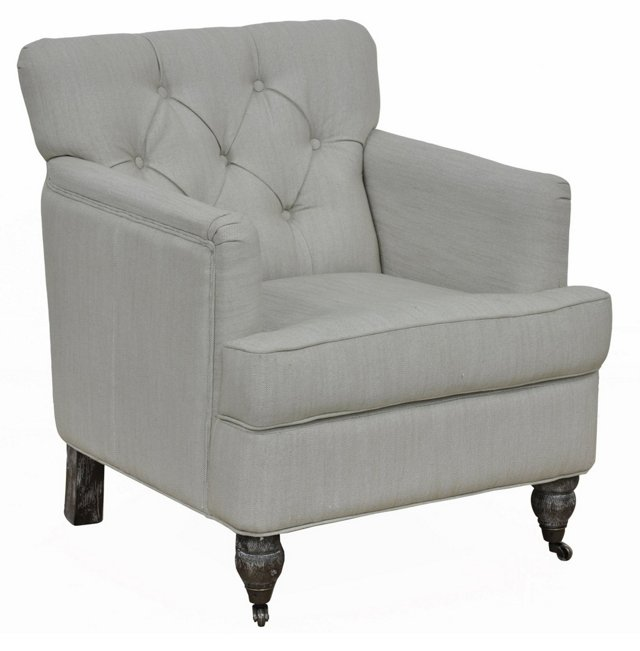 Paloma Club Chair, Dove Gray