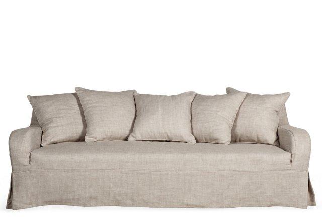 """Wilshire 90"""" Sofa, Dove Gray"""