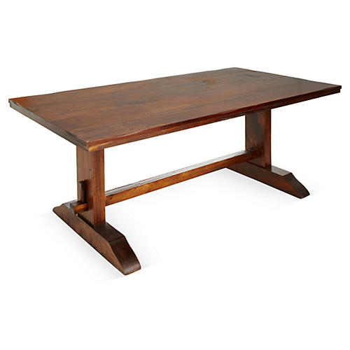"Gayle 78"" Dining Trestle Table, Cherry"