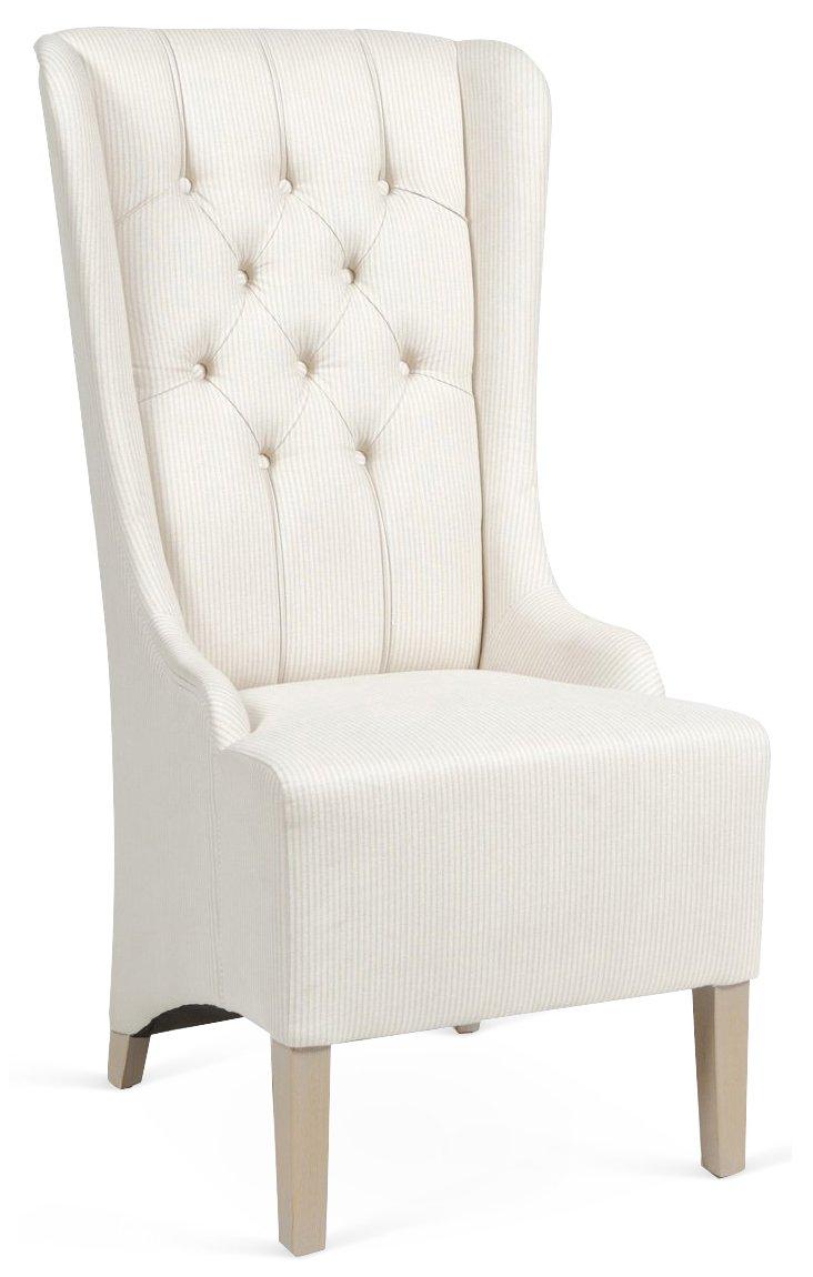 Piero Wingback Chair, Cream/Beige