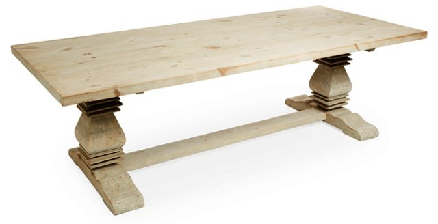 "Everly 98"" Farmhouse Dining Table"