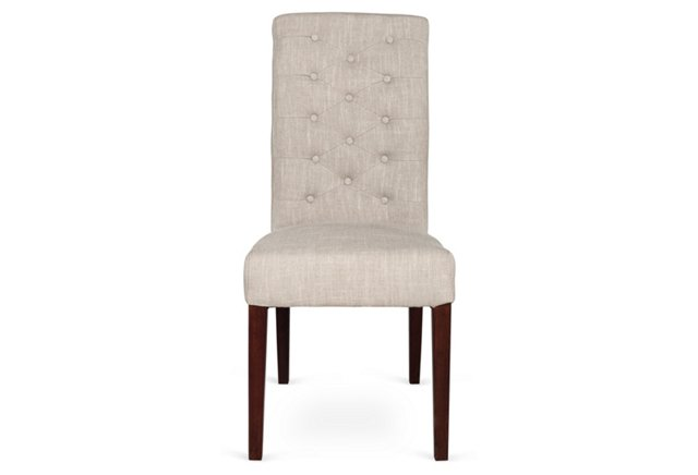 Selby Side Chair, Light Gray