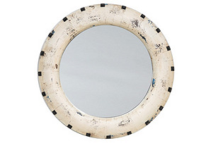 Santiago Mirror, Antiqued White