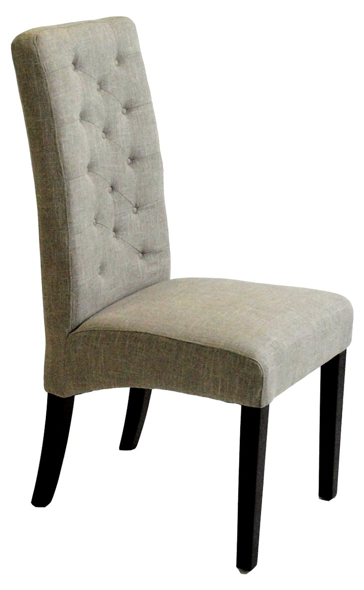 Soho Tufted Side Chair, Slate