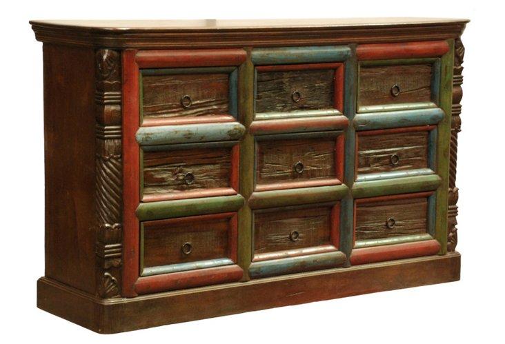 Tiki 9-Drawer Sideboard