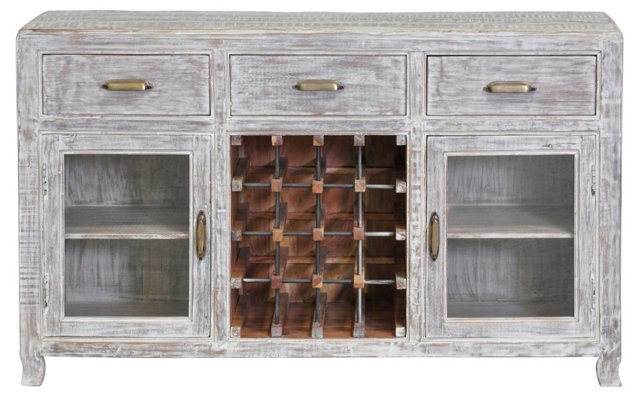 Hubbard 3-Drawer Wine Cabinet