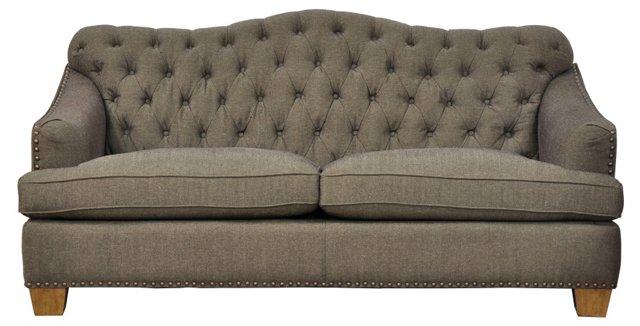 """Brinkley 77""""  Sofa, Brown"""