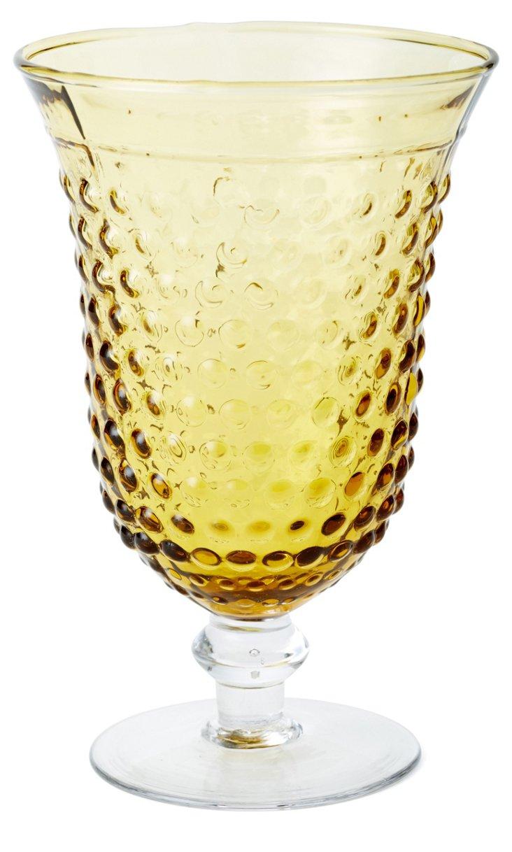S/4 Beaded Water Glasses, Yellow