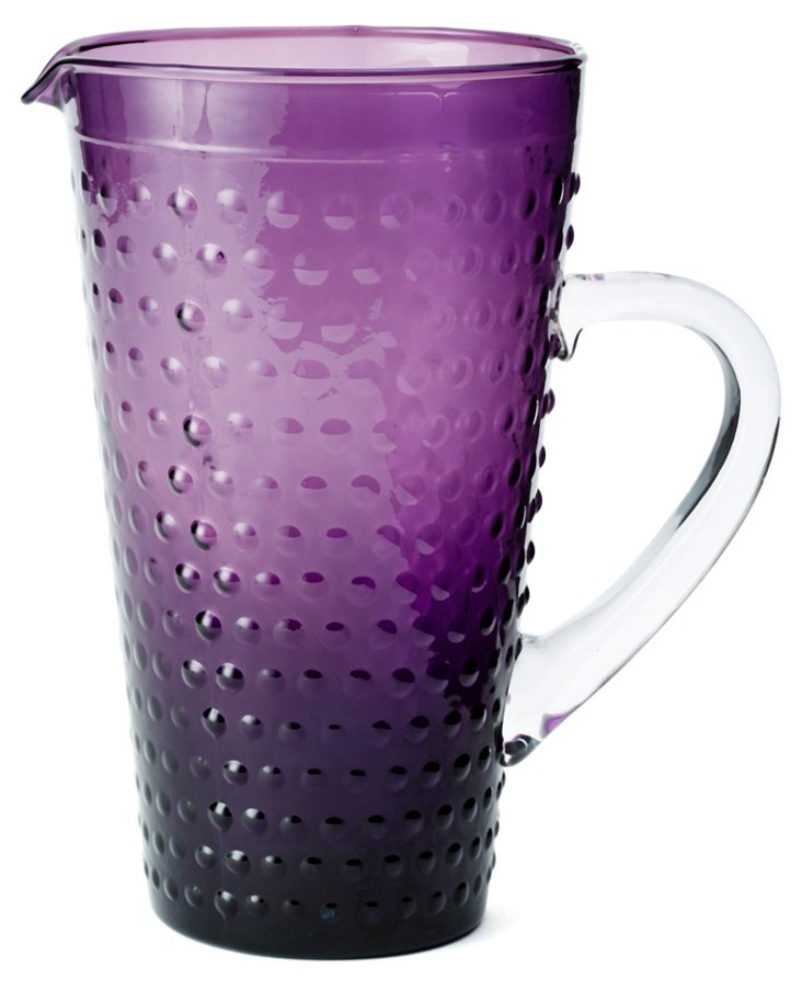 Beaded Pitcher, Purple