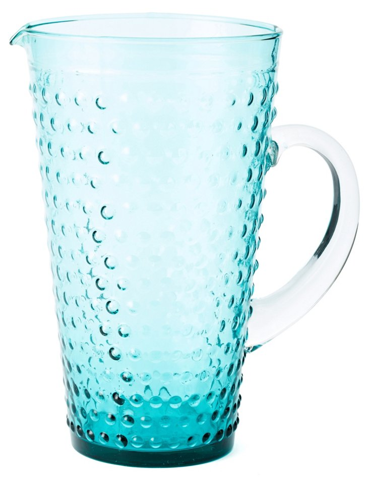 Beaded Pitcher, Blue