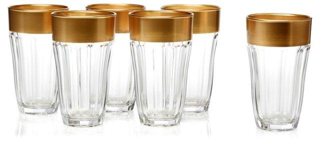 S/6 De'Ore Highball Glasses