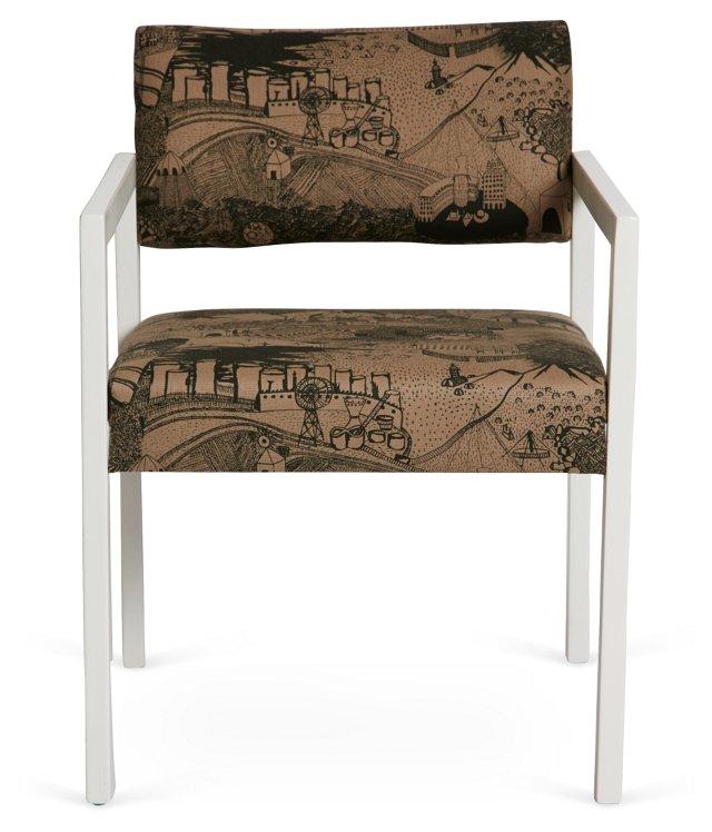 High-Gloss White Danish Modern Chair