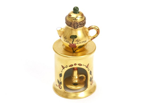 Teapot on Gold Stand Box
