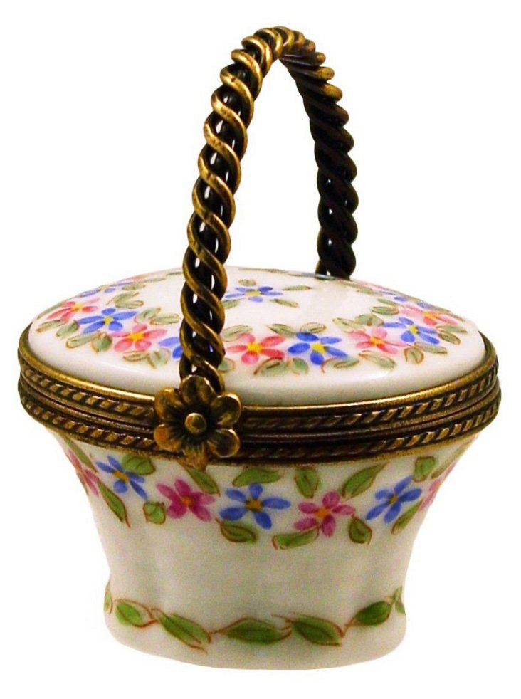 Flowers in Basket Box