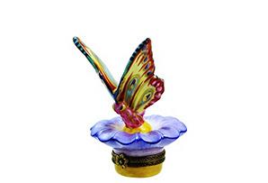 Chamart Butterfly on Daisy Box