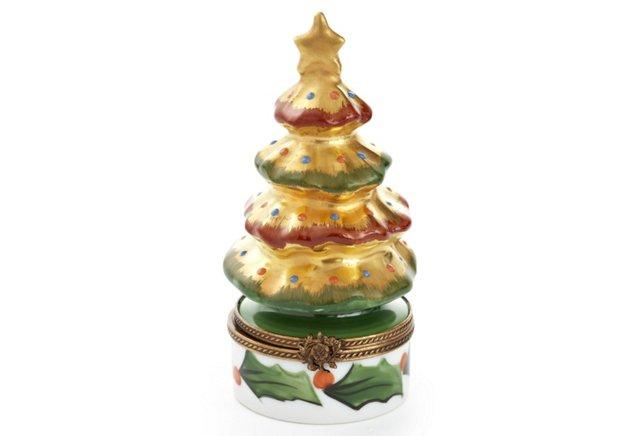 Gold Christmas Tree Box