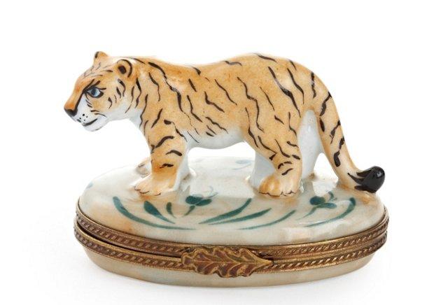 Oval Tiger Box