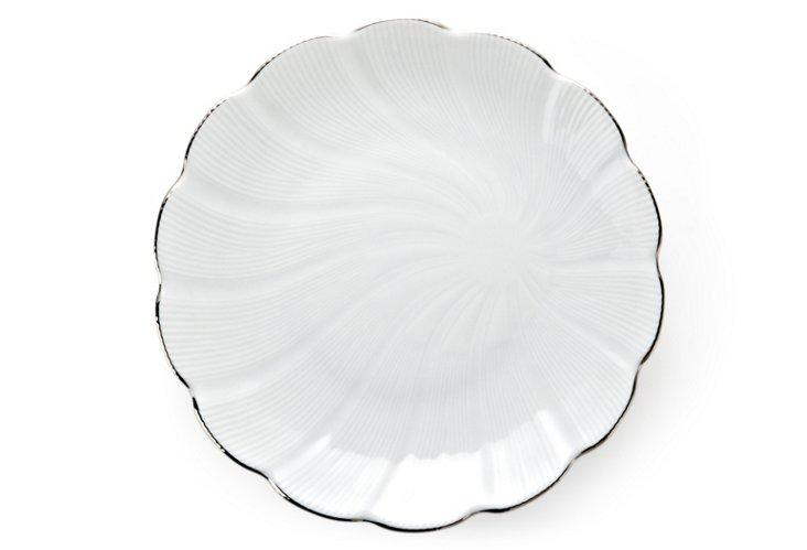Tahiti Large Dinner Plate, Silver
