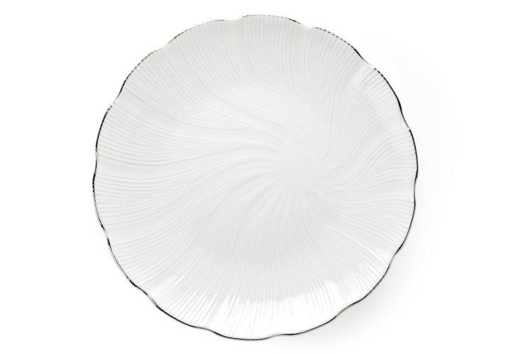 Large Dessert Plate, Silver