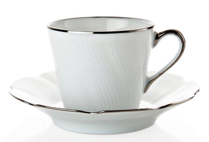 Teacup & Saucer, Silver