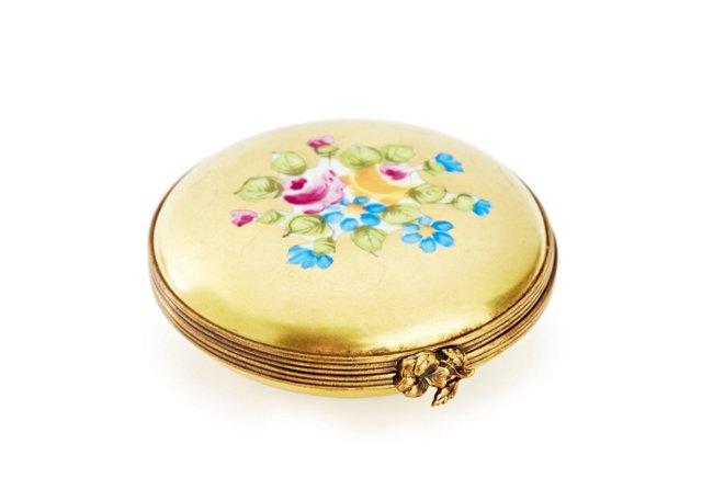 Gold Floral Limoges Box