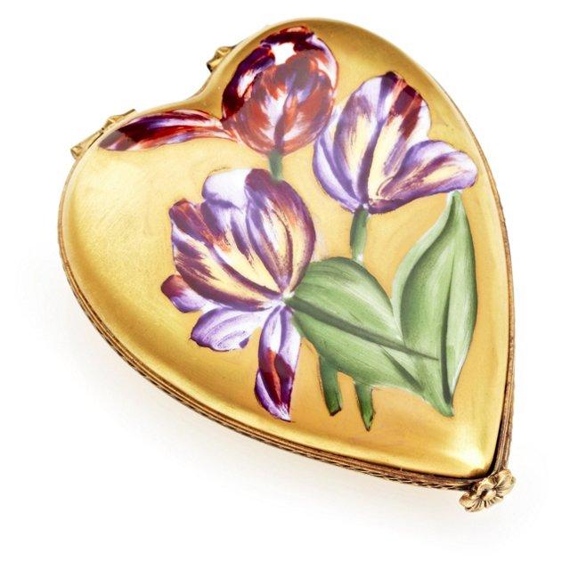 Flat Tulip Heart Box